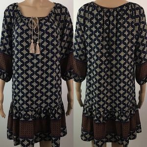 Anthropologie Vanessa Virginia Boho Dress Small